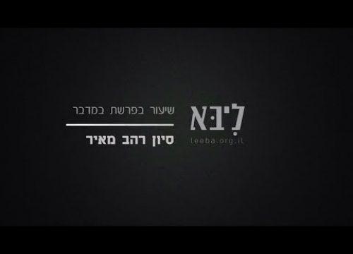 """בין מדבר למספר – השיעור השבועי – פרשת במדבר תשע""""ו"""