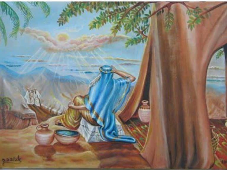 אברהם יושב בפתח האוהל