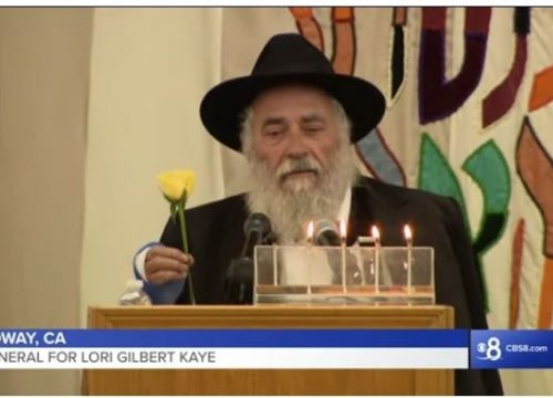 "Poway Rabbi Eulogizes Shooting Victim: ""God Took the Rose"""