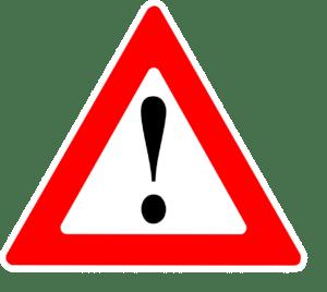 תמרור אזהרה של סימן קריאה
