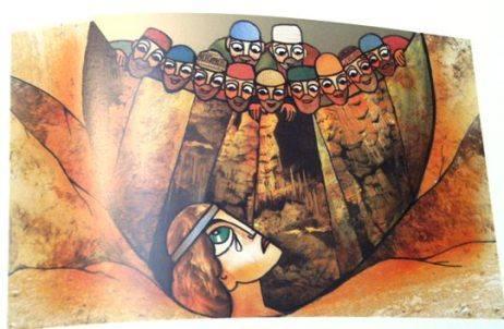 ציור של יוסף מתחנן מול אחיו
