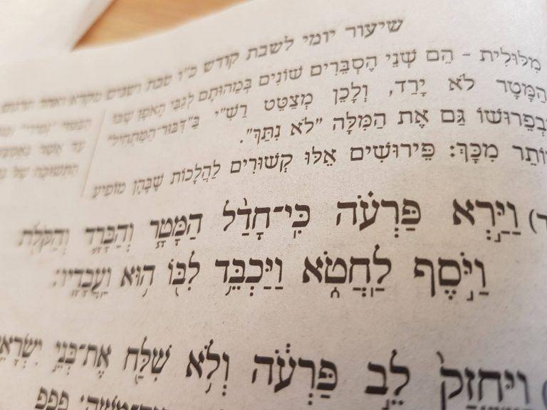 צילום הפסוקים שבהם פרעה מתחרט