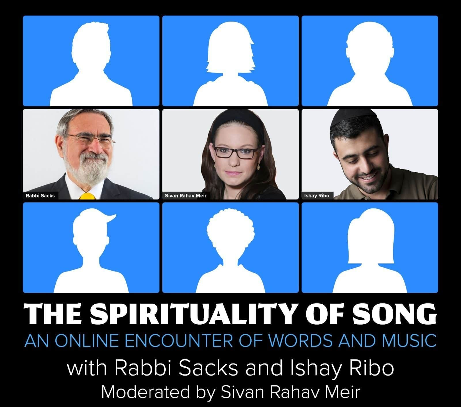 The spirituality of songs – An online encounter of words and music with Rabbi Sacks and Ishay Ribo