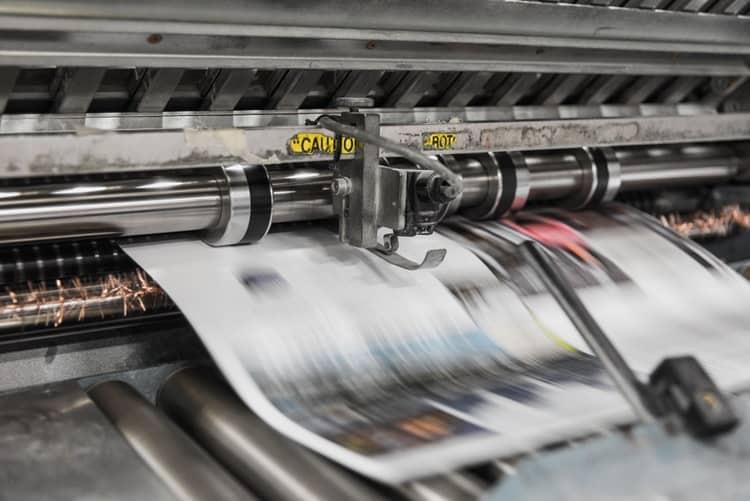 הדפסת עיתון