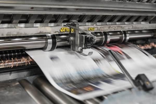 הדפסה של עיתון