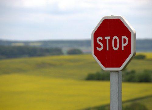 Warning Border ahead