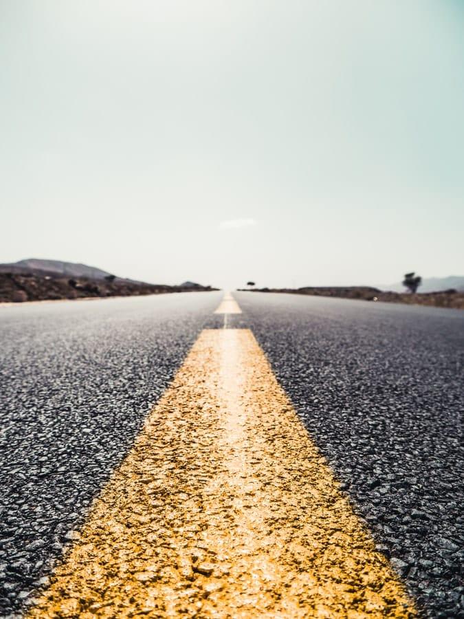 מבט קדימה על כביש