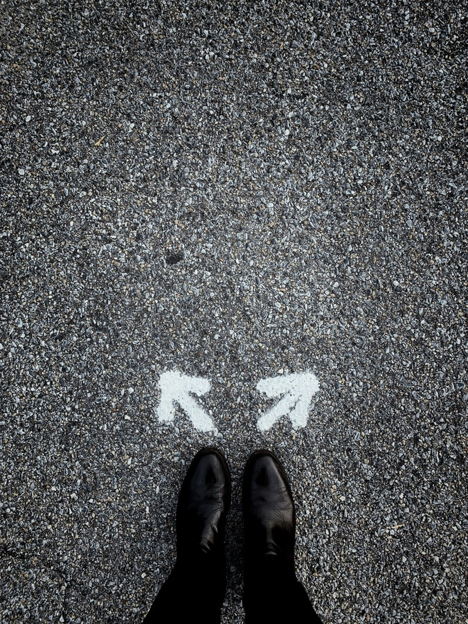 בחירה בין שני כיוונים