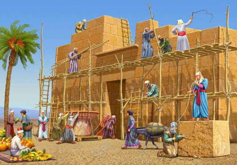 בני ישראל עבדים במצרים