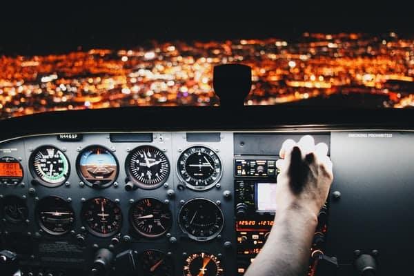 לוח מכוונים של מטוס